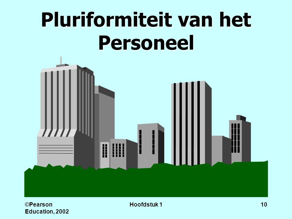 ©Pearson Education, 2002 Hoofdstuk 110 Pluriformiteit van het Personeel