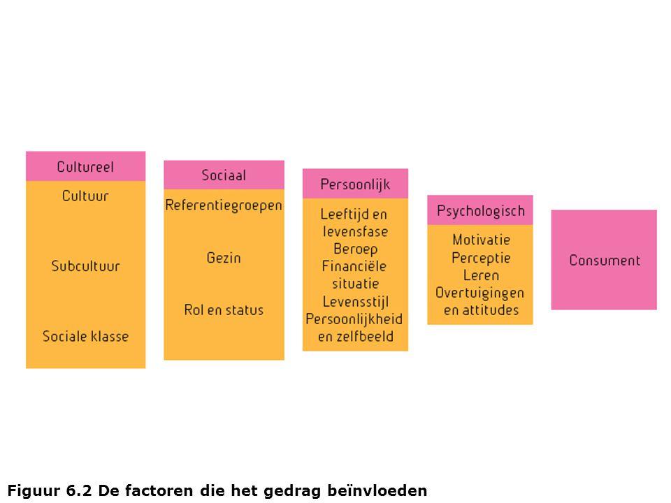 Figuur 6.2 De factoren die het gedrag beïnvloeden