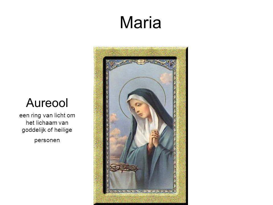Maria Aureool een ring van licht om het lichaam van goddelijk of heilige personen