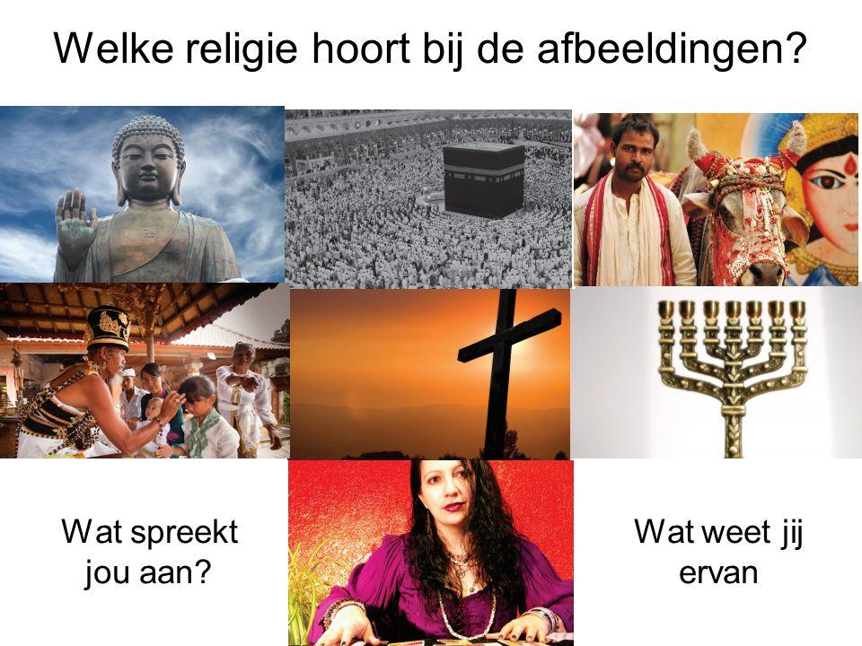 Welke religie hoort bij de afbeeldingen? Wat spreekt jou aan? Wat weet jij ervan