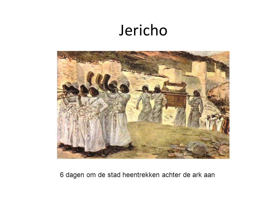 Jericho 6 dagen om de stad heentrekken achter de ark aan