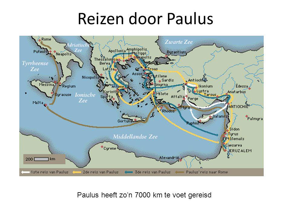 Reizen door Paulus Paulus heeft zo'n 7000 km te voet gereisd