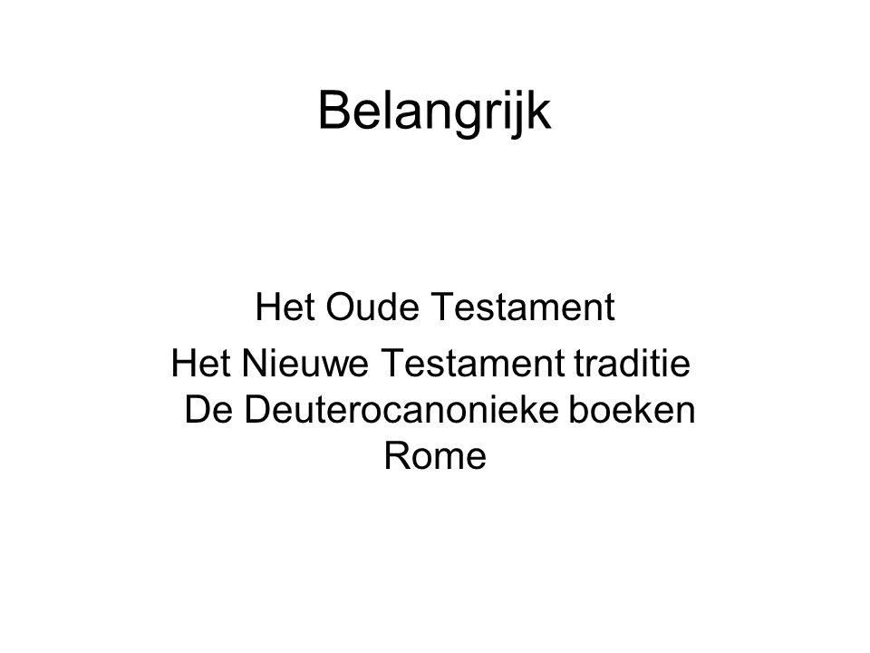 Belangrijk Het Oude Testament Het Nieuwe Testament traditie De Deuterocanonieke boeken Rome