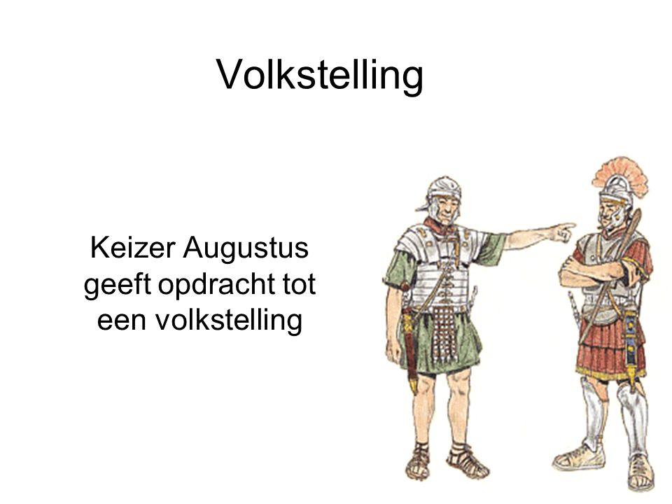 Volkstelling Keizer Augustus geeft opdracht tot een volkstelling