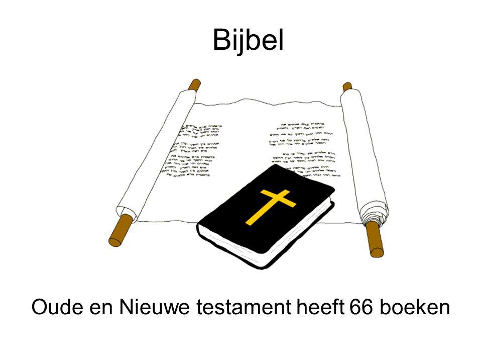 Bijbel Oude en Nieuwe testament heeft 66 boeken