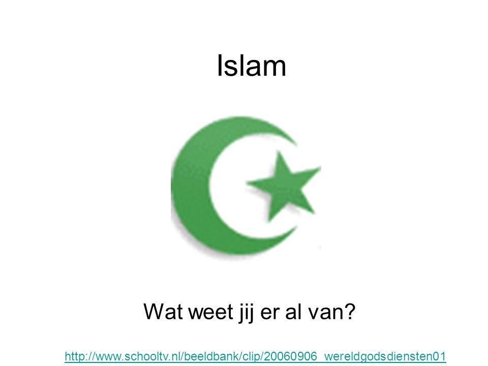 Islam Islam betekent gehoorzaamheid, of vrede door onderwerping aan de wil van Allah