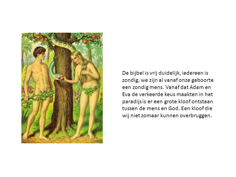 De bijbel is vrij duidelijk, iedereen is zondig, we zijn al vanaf onze geboorte een zondig mens. Vanaf dat Adam en Eva de verkeerde keus maakten in he