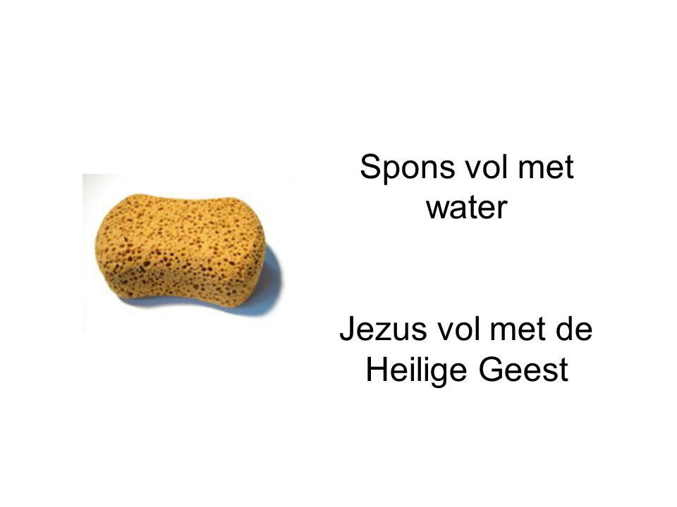 Spons vol met water Jezus vol met de Heilige Geest