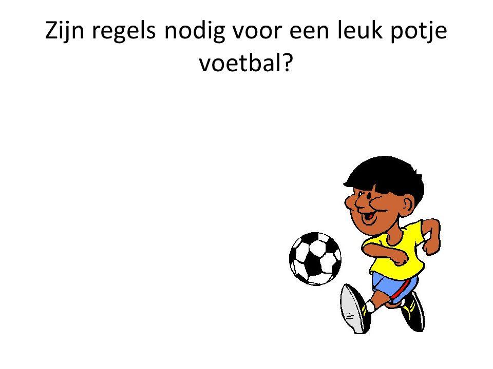 Zijn regels nodig voor een leuk potje voetbal?