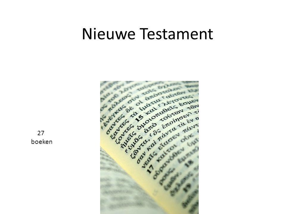 Nieuwe Testament 27 boeken
