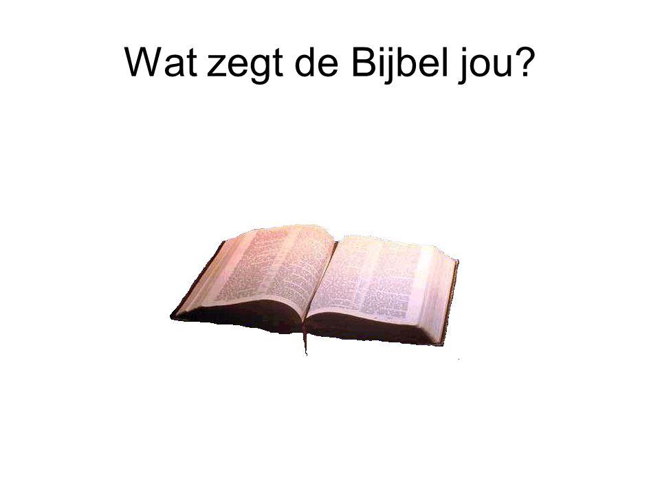 Wat zegt de Bijbel jou?