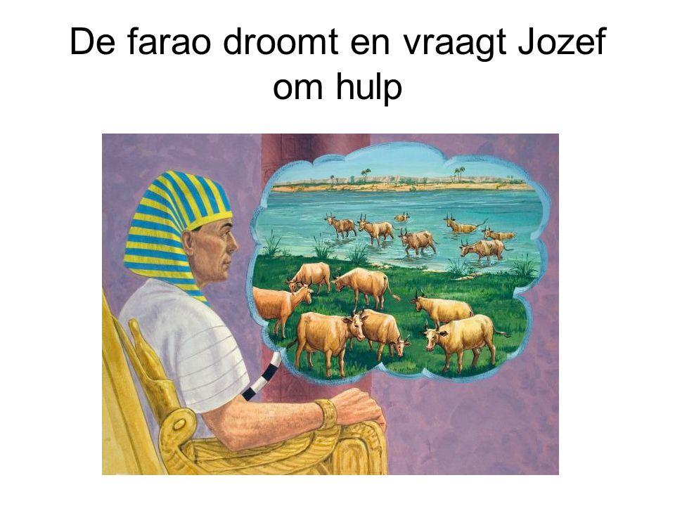 De farao droomt en vraagt Jozef om hulp