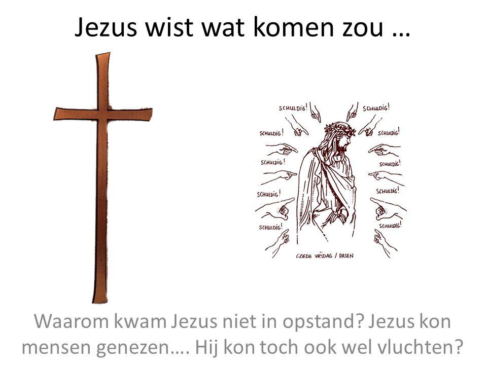 Jezus wist wat komen zou … Waarom kwam Jezus niet in opstand? Jezus kon mensen genezen…. Hij kon toch ook wel vluchten?