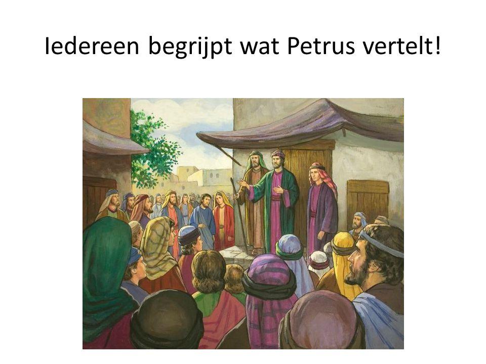 Iedereen begrijpt wat Petrus vertelt!