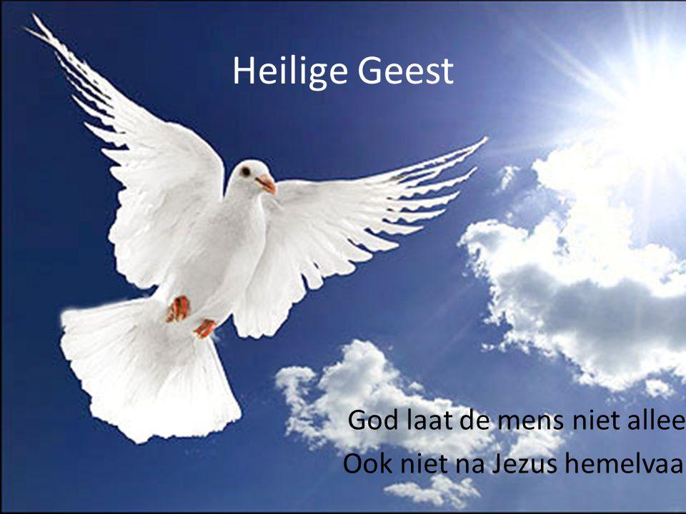 Heilige Geest God laat de mens niet alleen. Ook niet na Jezus hemelvaart!