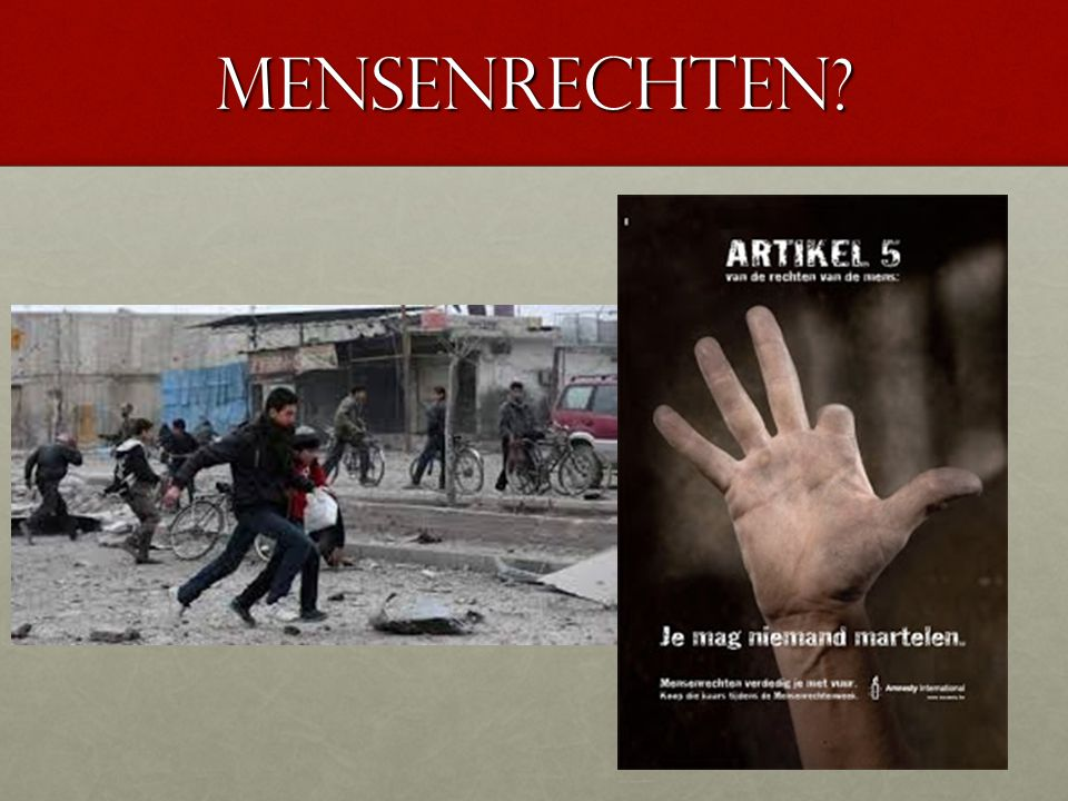 Mensenrechten?