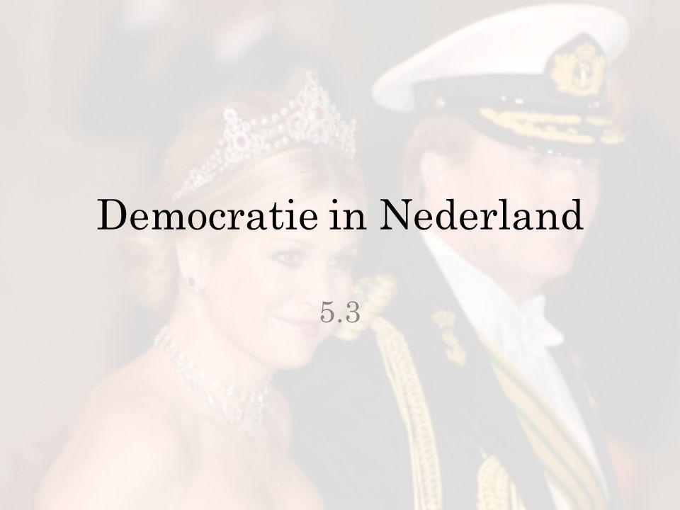 Democratie in Nederland 5.3