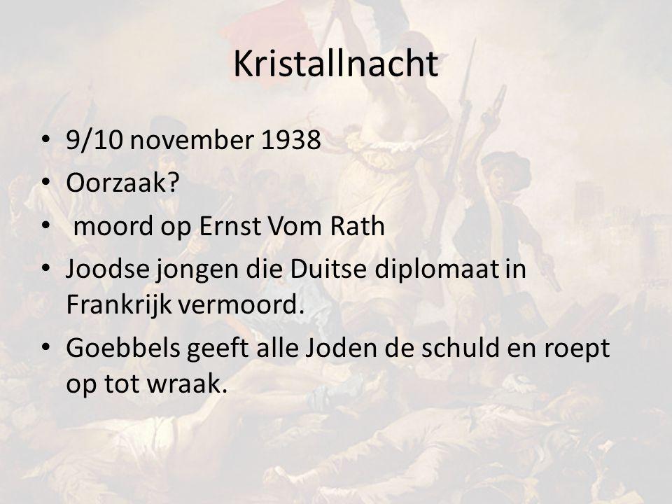 Kristallnacht 9/10 november 1938 Oorzaak.