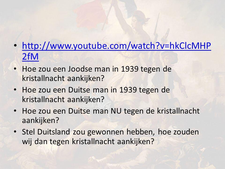 http://www.youtube.com/watch?v=hkClcMHP 2fM http://www.youtube.com/watch?v=hkClcMHP 2fM Hoe zou een Joodse man in 1939 tegen de kristallnacht aankijken.