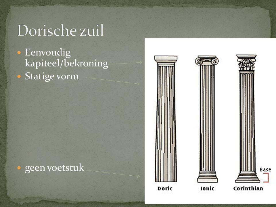 Eenvoudig kapiteel/bekroning Statige vorm geen voetstuk