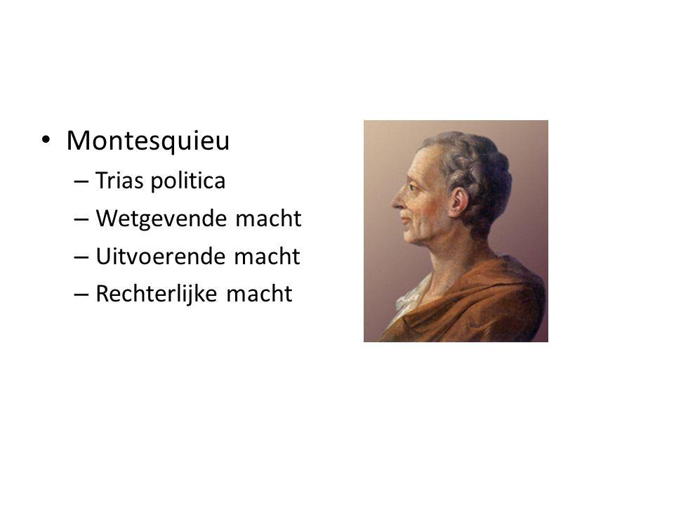 Montesquieu – Trias politica – Wetgevende macht – Uitvoerende macht – Rechterlijke macht