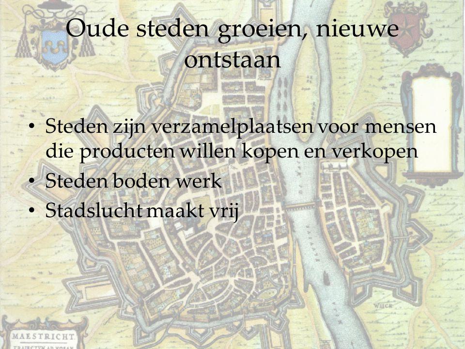 Steden krijgen stadsrechten Stad lag op grondgebied domein edelman.