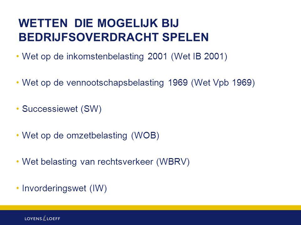 BEDRIJFSOPVOLGINGSFACILITEIT SUCCESSIEWET (3) Faciliteit voorwaardelijk Verzoek om faciliteit bij aangifte Conserverende aanslag Kwijtschelding conserverende aanslag na 5 jaar