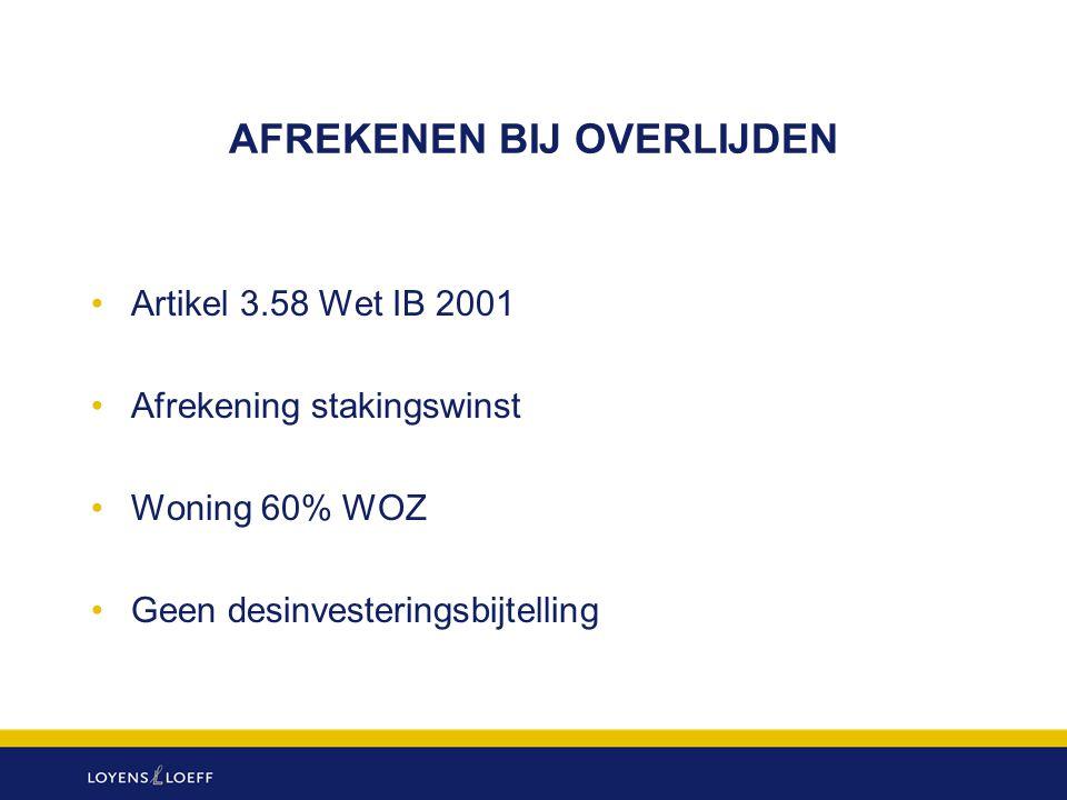 BEDRIJFSOPVOLGINGSFACILITEIT SUCCESSIEWET (8) Belastinglatenties (art.