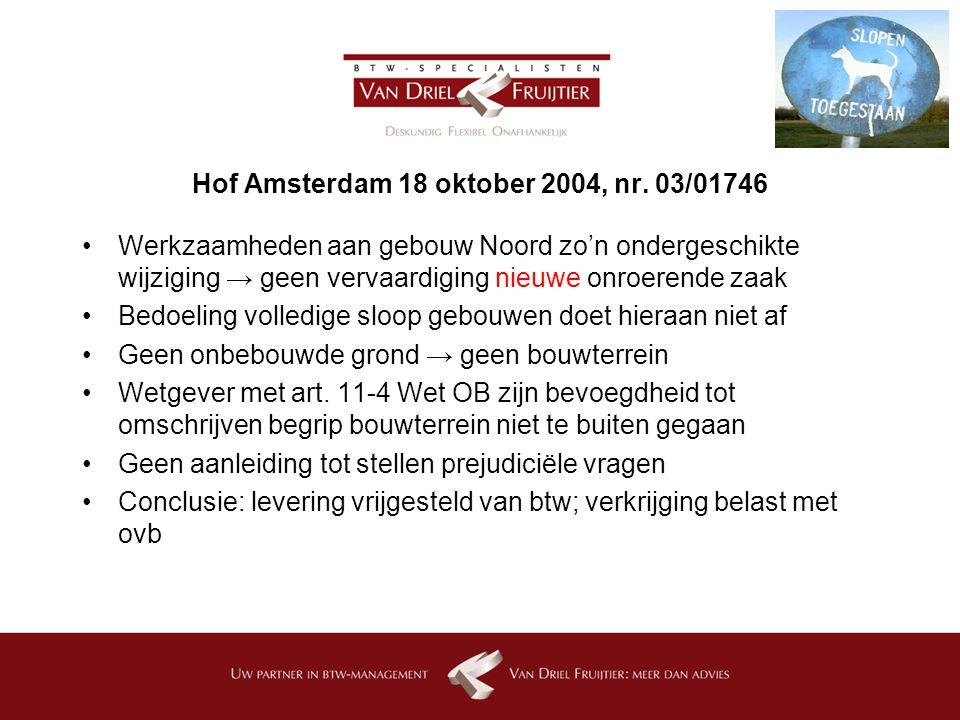 Hof Amsterdam 18 oktober 2004, nr.