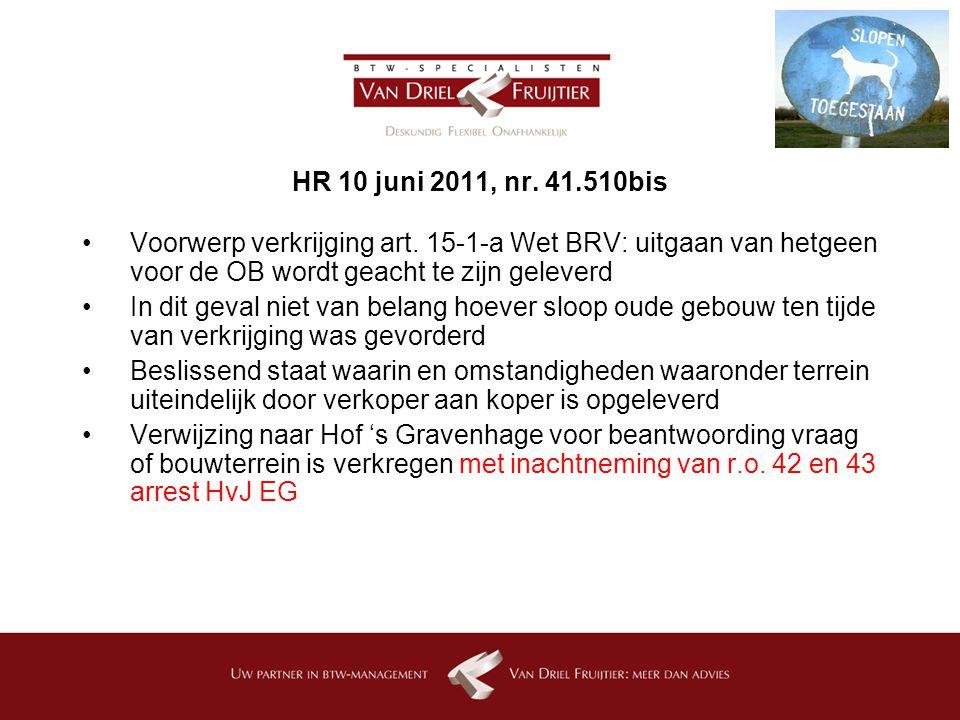 HR 10 juni 2011, nr.41.510bis Voorwerp verkrijging art.