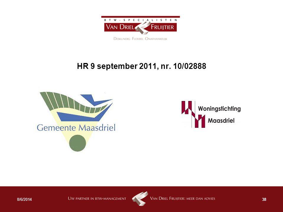 HR 9 september 2011, nr. 10/02888 388/6/2014