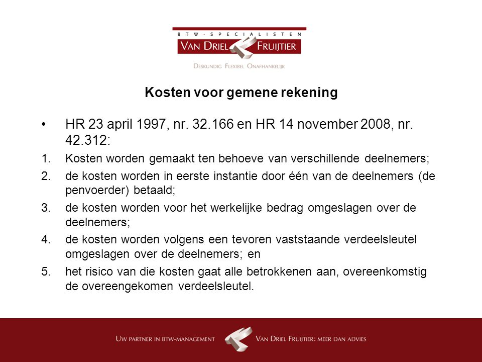 HR 10 februari 2012, nr.08/05317 Rb Haarlem 1 november 2007, nrs.
