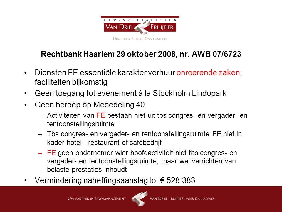 Rechtbank Haarlem 29 oktober 2008, nr.