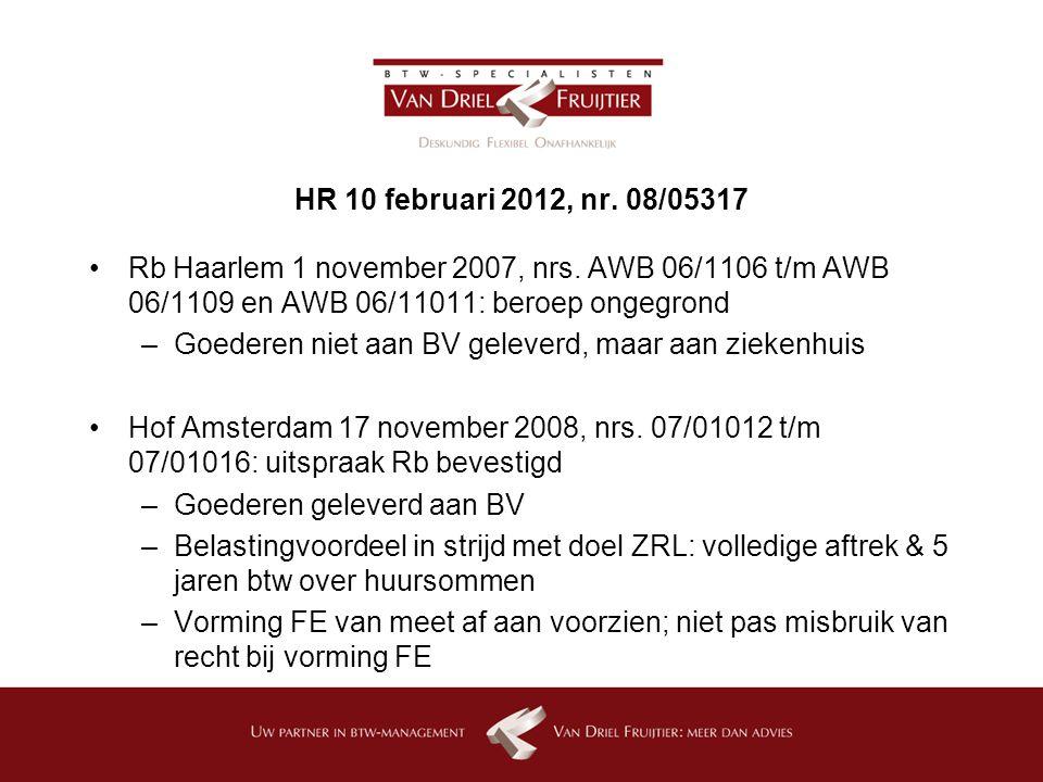 HR 10 februari 2012, nr.08/05317 Rb Haarlem 1 november 2007, nrs.