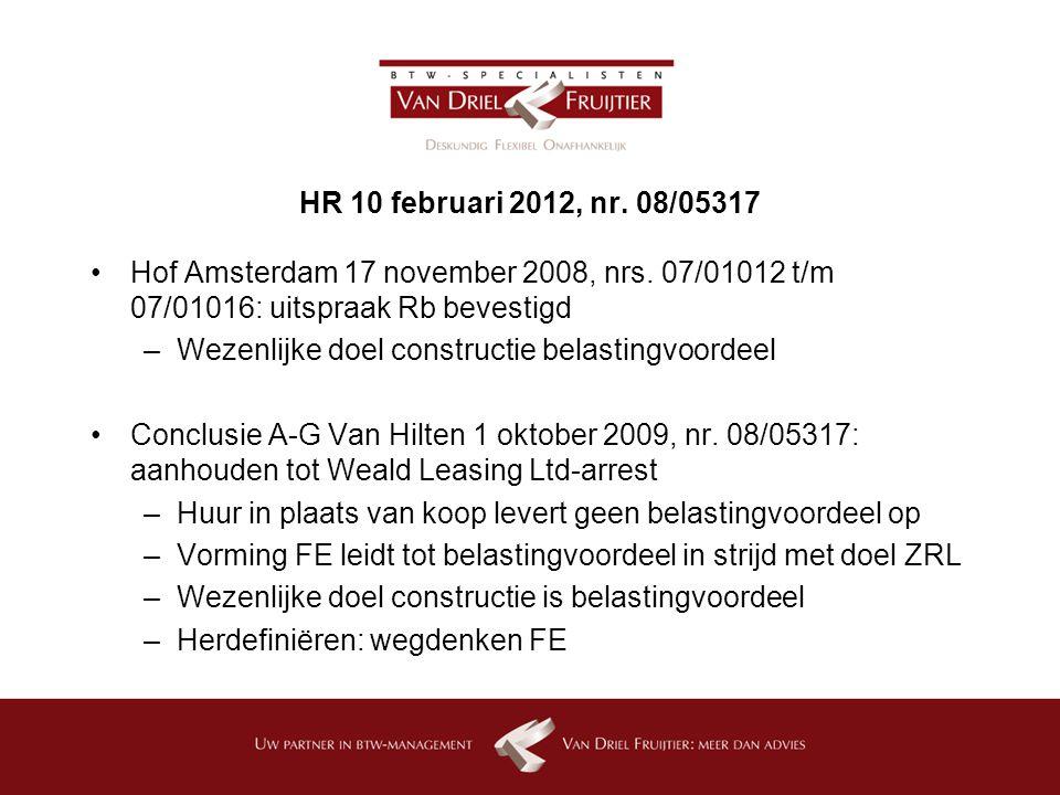 HR 10 februari 2012, nr.08/05317 Hof Amsterdam 17 november 2008, nrs.