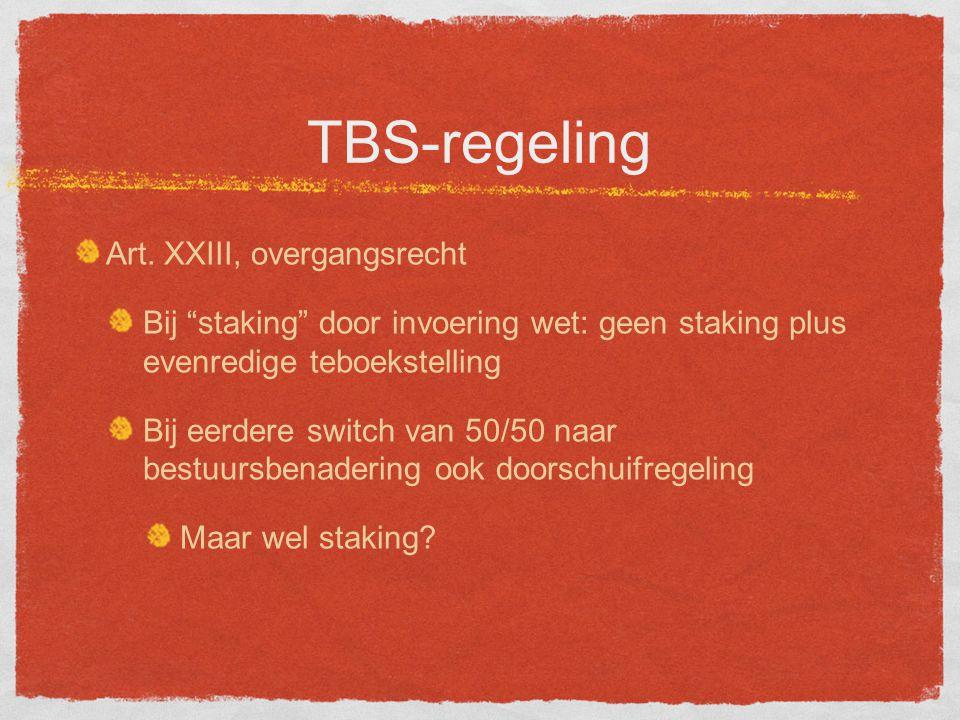 TBS-regeling Art.