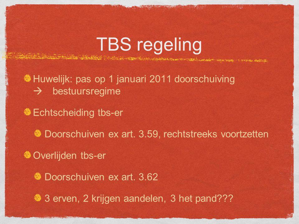 TBS regeling Huwelijk: pas op 1 januari 2011 doorschuiving  bestuursregime Echtscheiding tbs-er Doorschuiven ex art.