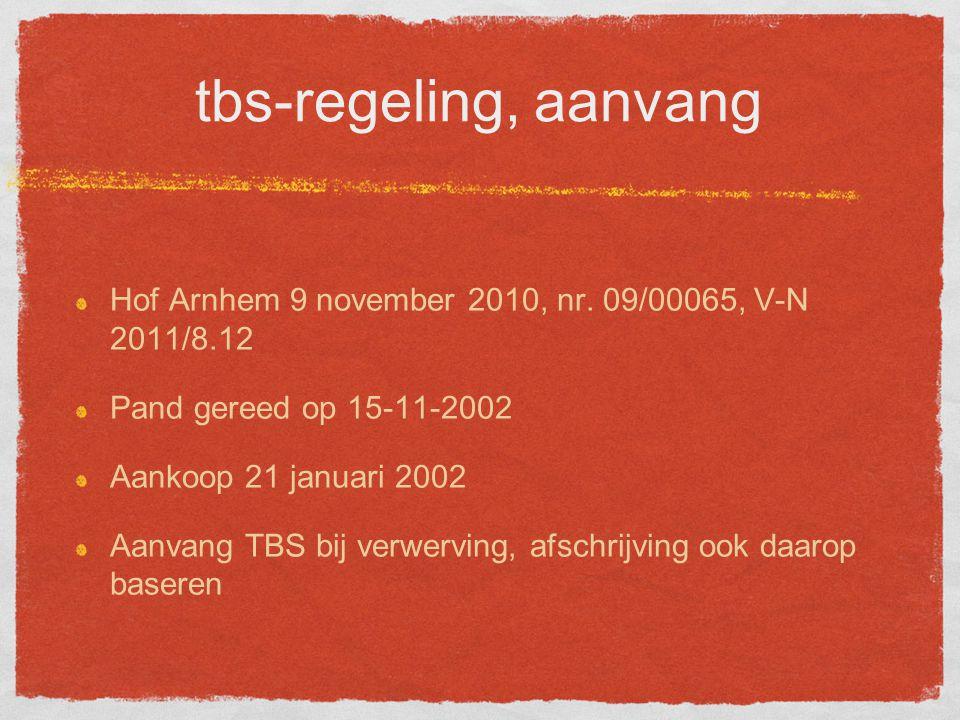 tbs-regeling, aanvang Hof Arnhem 9 november 2010, nr.