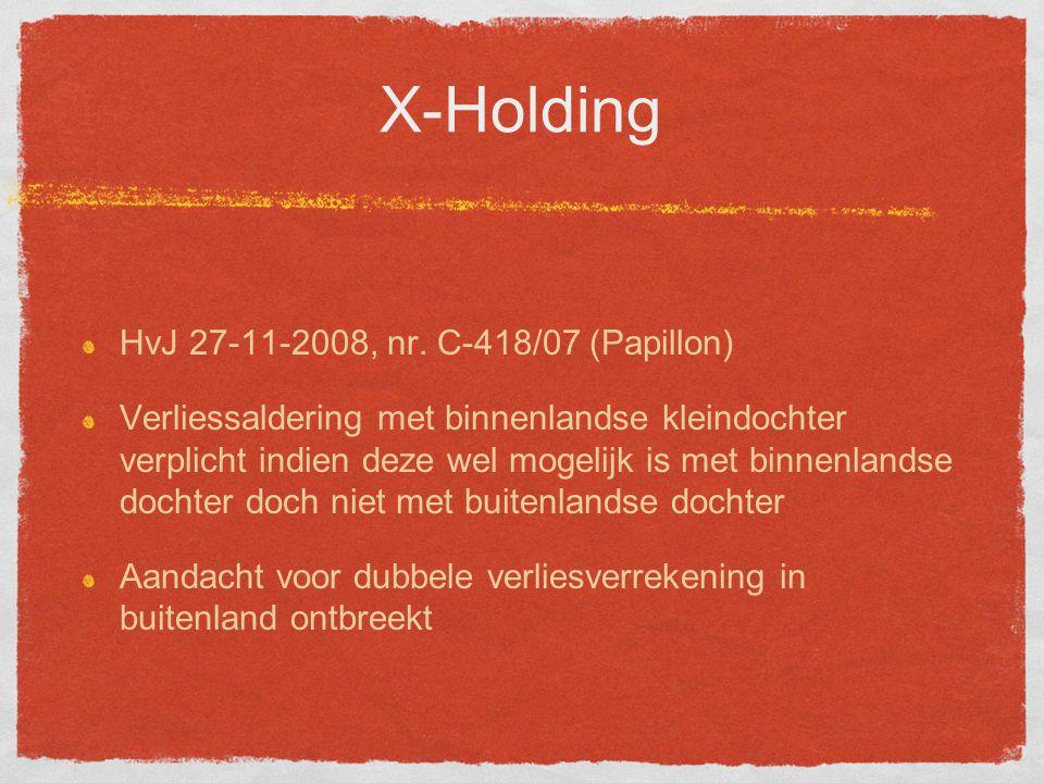 X-Holding HvJ 27-11-2008, nr.