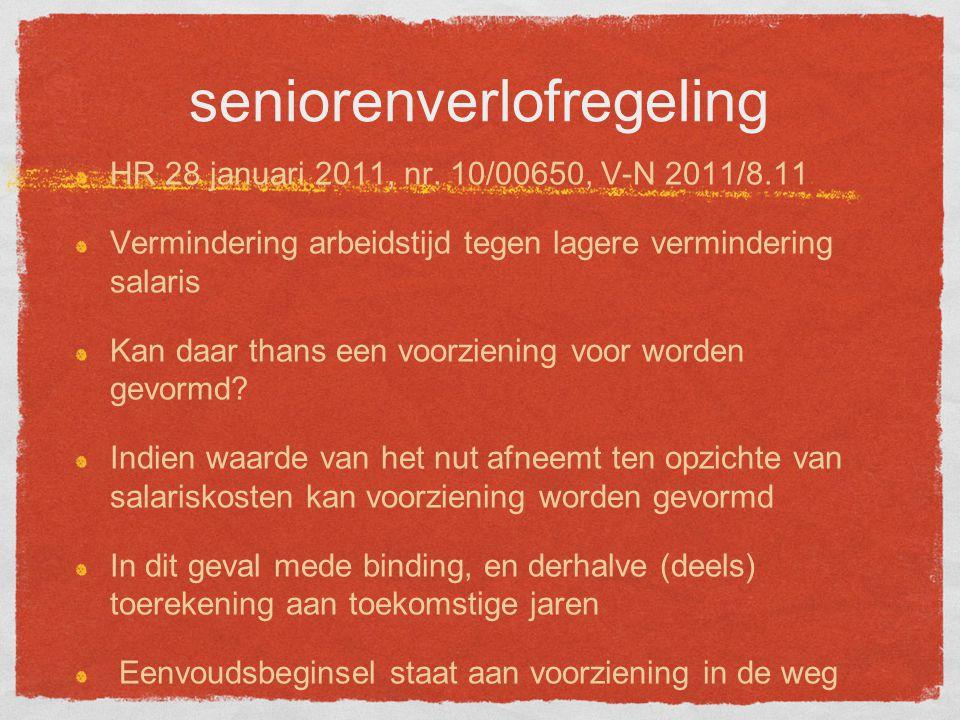 seniorenverlofregeling HR 28 januari 2011, nr.