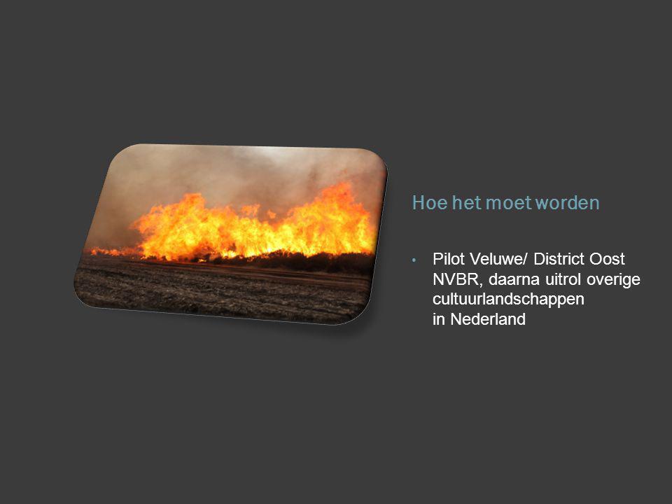 Hoe het moet worden Pilot Veluwe/ District Oost NVBR, daarna uitrol overige cultuurlandschappen in Nederland