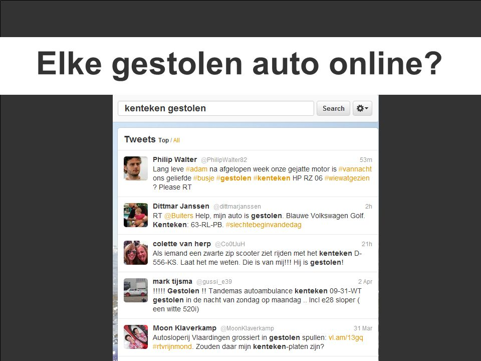 Elke gestolen auto online