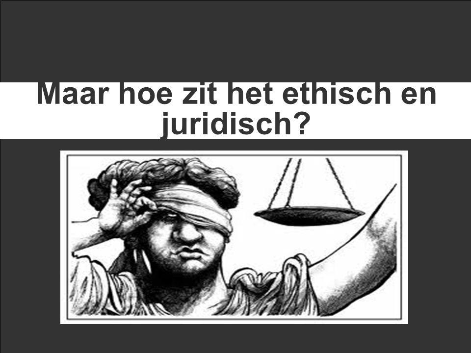 Maar hoe zit het ethisch en juridisch