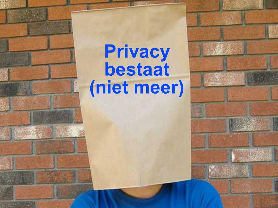 Privacy bestaat (niet meer)
