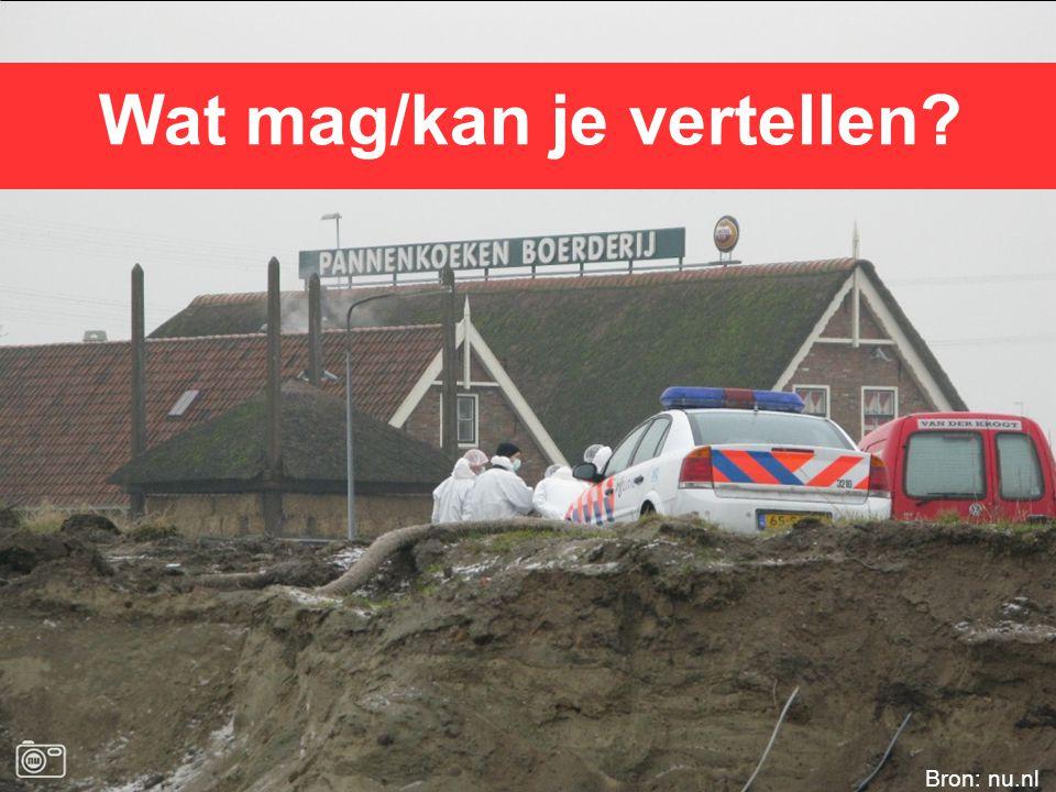 Wat mag/kan je vertellen Bron: nu.nl