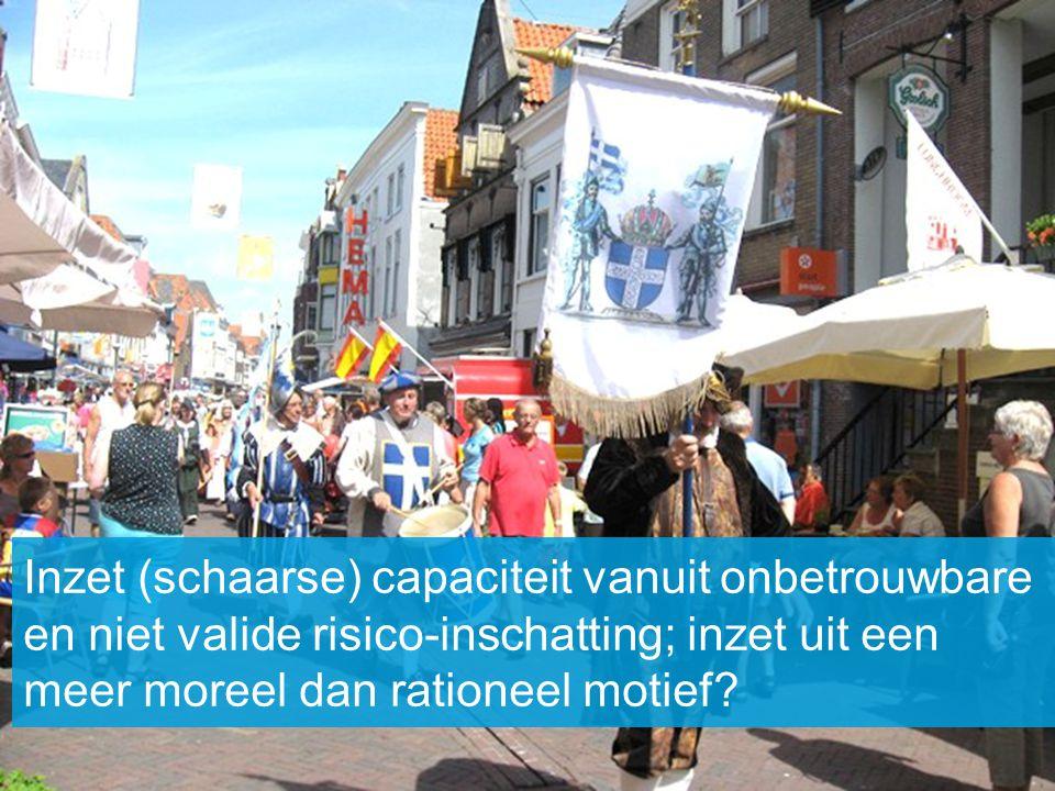 Inzet (schaarse) capaciteit vanuit onbetrouwbare en niet valide risico-inschatting; inzet uit een meer moreel dan rationeel motief?