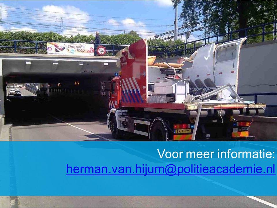 Voor meer informatie: herman.van.hijum@politieacademie.nl herman.van.hijum@politieacademie.nl