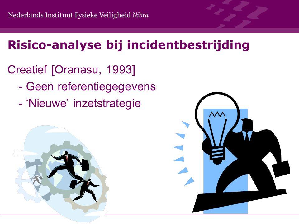 Risico-analyse bij incidentbestrijding Creatief [Oranasu, 1993] - Geen referentiegegevens - 'Nieuwe' inzetstrategie