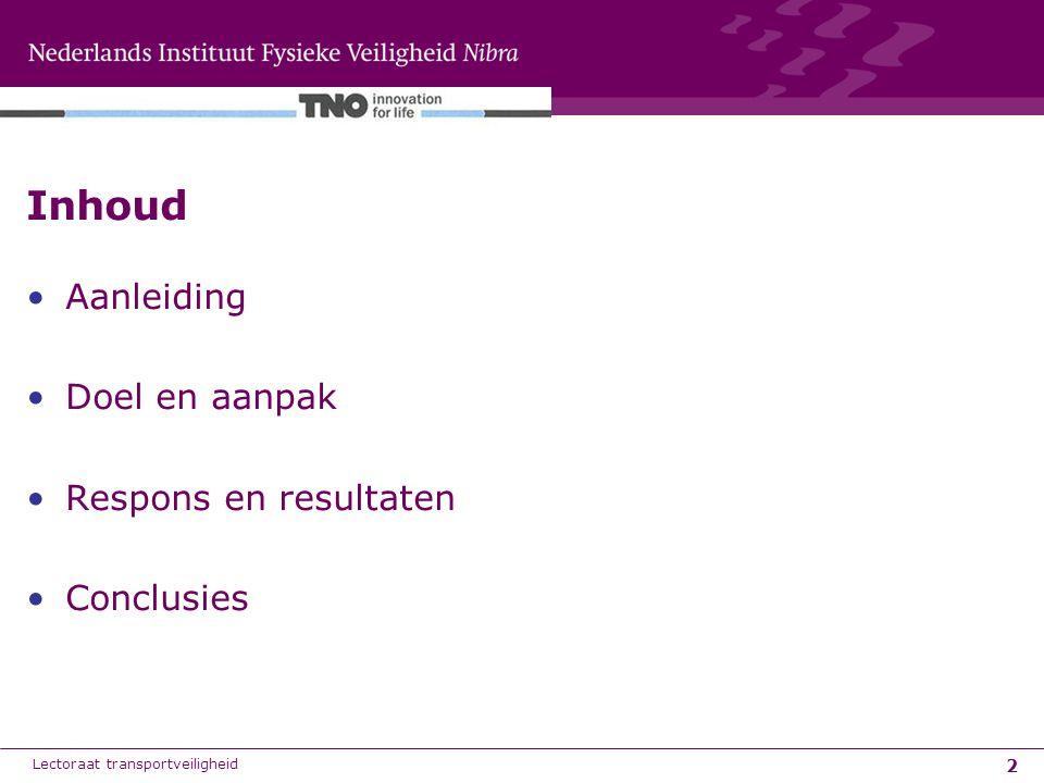 3 Met de instelling van het Basisnet Weg heerst de veronderstelling bij velen dat voor wat betreft het wegvervoer van gevaarlijke stoffen in Nederland er nauwelijks nog 'problemen' zijn.