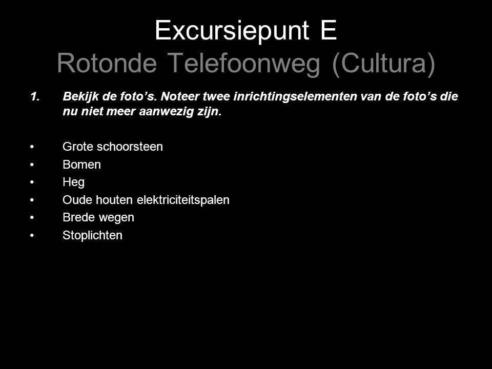 Excursiepunt E Rotonde Telefoonweg (Cultura) 1.Bekijk de foto's.